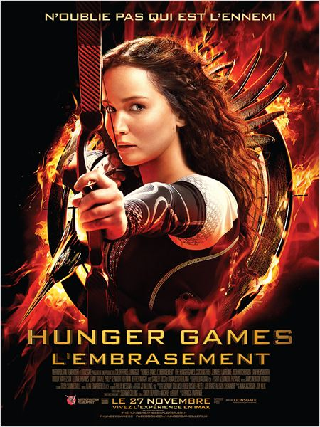 Hunger Games l'embrasement - affiche