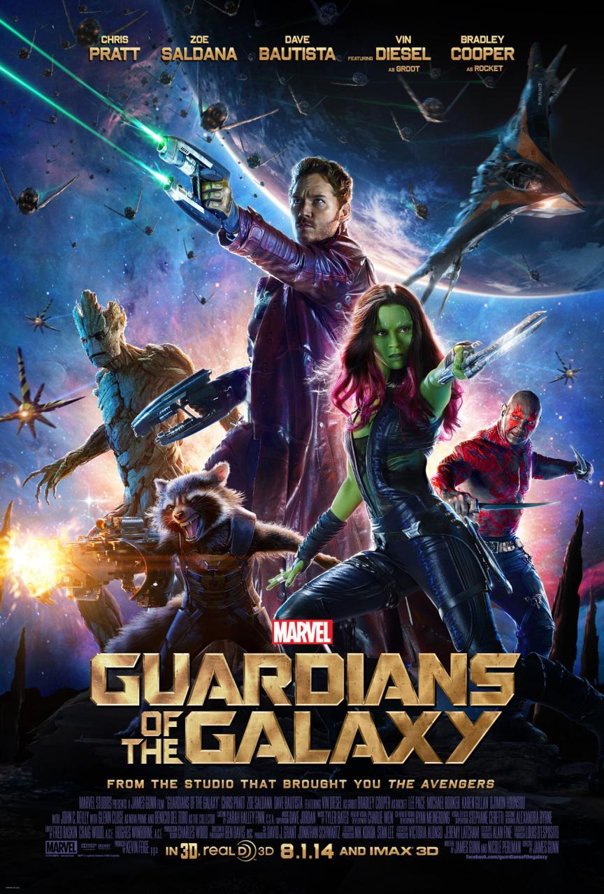 Gardiens de la galaxie - affiche