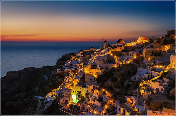Imagine Sunset Santorini by George Papapostolou
