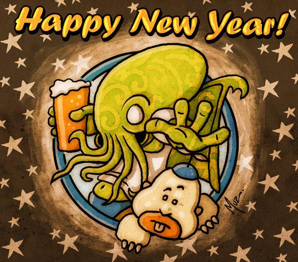 New year Cthulhu