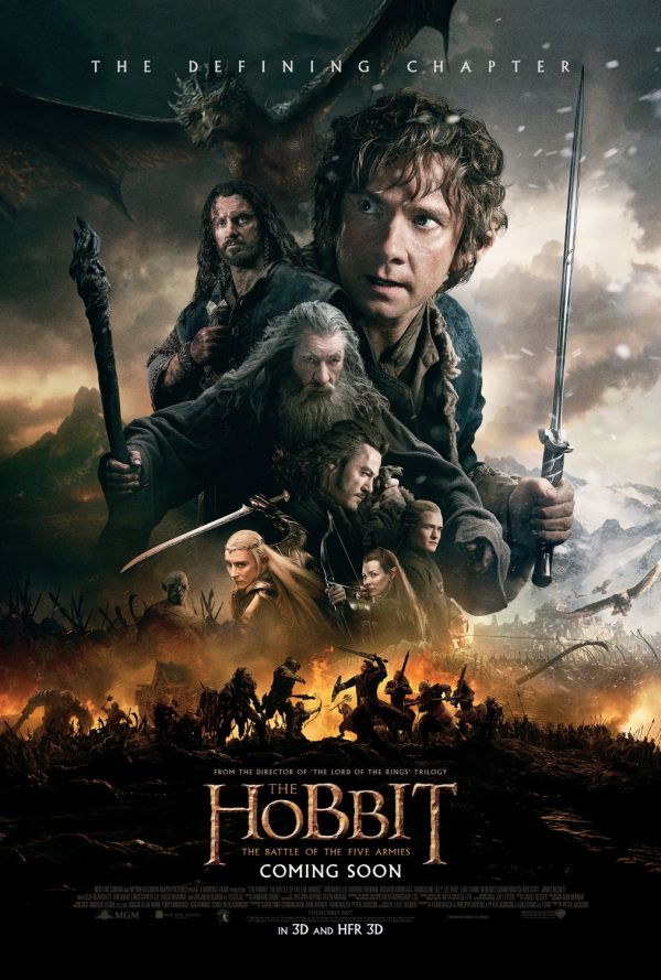 Le hobbit - La bataille des cinq armées - affiche