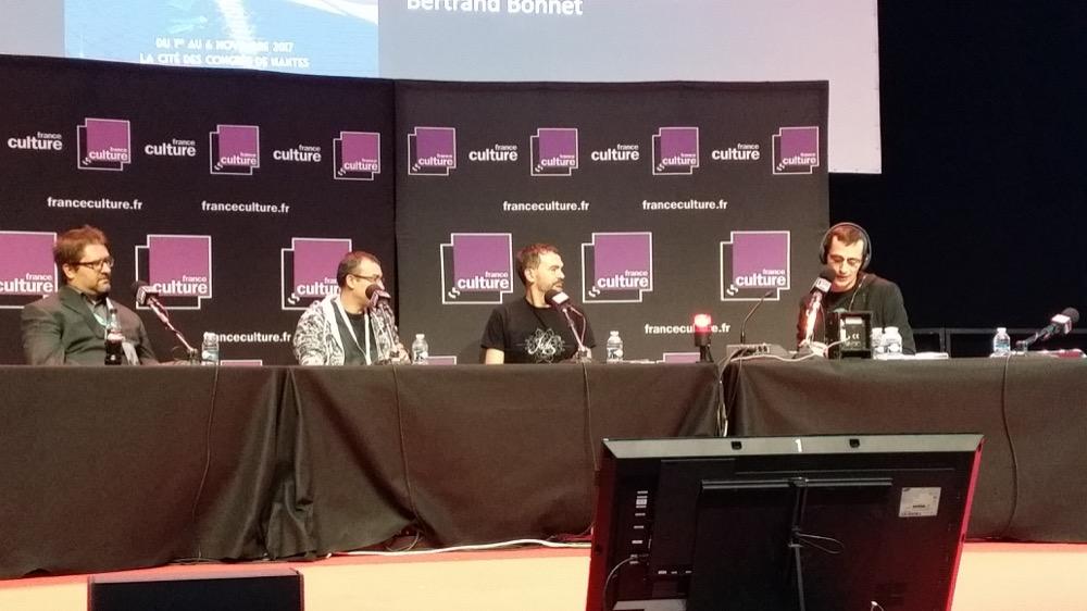 De gauche à droite : Bertrand Bonnet, Gilles Dumay, Raphaël Granier de Cassagnac et Nicolas Martin